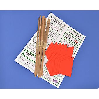 12 Red Paper Hats, Snaps & Jokes for Cracker Making Crafts