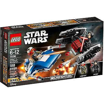 75196 LEGO A-wing vs. TIE Silencer microfighters