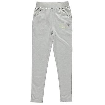 Lonsdale Kids Girls Open Hem Jogging Bottoms Junior Jersey Trousers Pants
