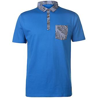 Pierre Cardin Mens Printed Pocket Jersey Polo Shirt T-Shirt Short Sleeve Top
