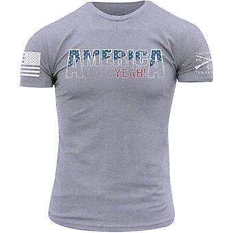 Grunt Style America, F*ck Yeah 2.0 T-Shirt - Gray