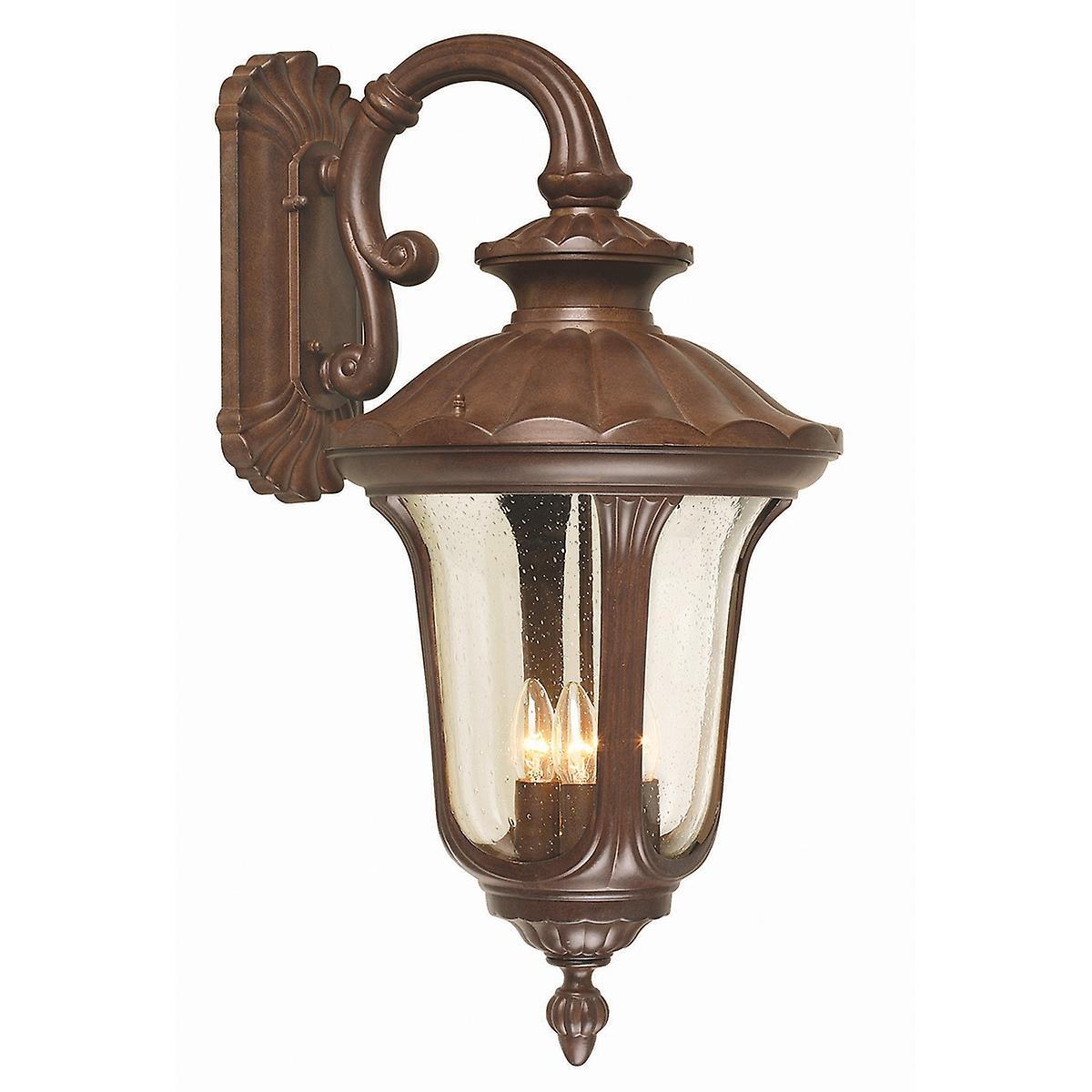 Elstead CC2/L Chicago Large Outdoor Wall Down Lantern with Textured Glass