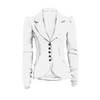 Neue Damen lange Ärmel 5 Tasten Slim Fit intelligente Pocket Damen Blazer