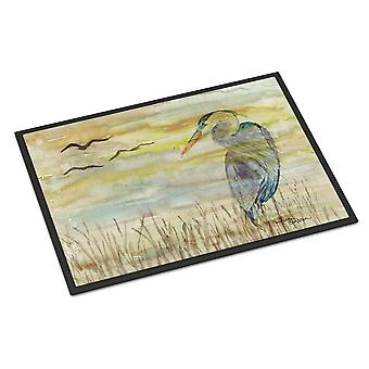 Blue Heron Yellow Sky Indoor or Outdoor Mat 24x36