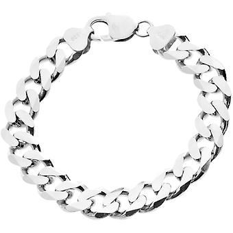 Srebro 925 krawężnika łańcuch bransoletka - krawężnik 11 mm