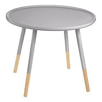Fusione grigio vivente circolare grande tavolo laterale con zampe di faggio gambe