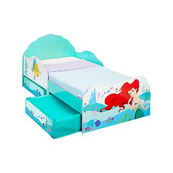 Disney Princess Ariel toddler Bed com armazenamento Plus Deluxe foam