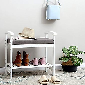 Bamboo shoes Bench with armrests and soft seat