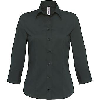 B&C Collection - B&C Milano 3/4 Sleeved Women Poplin Shirt - Work Business