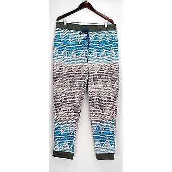 Cuddl Duds Lounge Pants, Sleep Shorts Fleece Printed Gray A283334