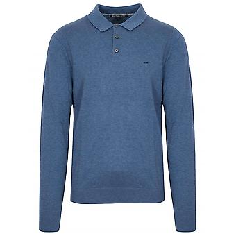 Michael Kors  Michael Kors Chambray Melange Long-Sleeve Polo Shirt