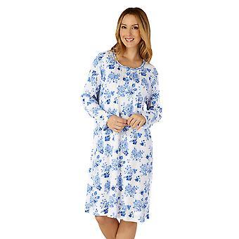 Slenderella ND4201 Frauen's gewebte Floral Baumwolle Nachthemd
