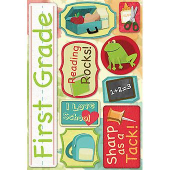 School Cardstock Stickers 5.5