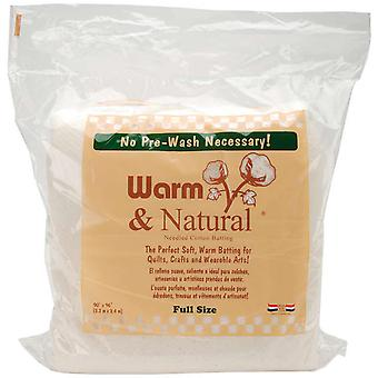 Warm & Natural Cotton Batting Full Size 90