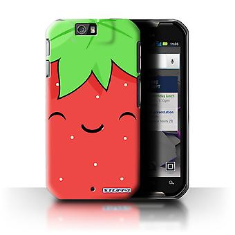 STUFF4 Case/Cover for Motorola IronRock/XT626/Strawberry/Kawaii Food
