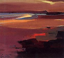 Pam Carter print - Beach at Sunset
