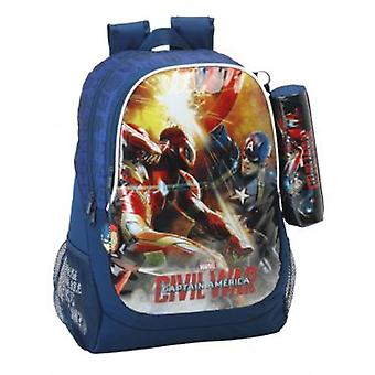 Safta Day Pack Capitan America  Civil War  (Juguetes , Zona Escolar , Mochilas)