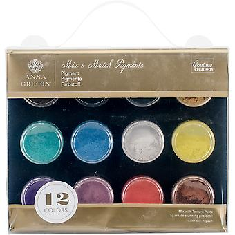 Couture Creations Mix & Match Pigments 12/Pkg- CO724866