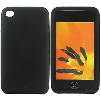Silicone case-iPod Touch 4 (black)