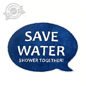 Bath mat Save water Shower together