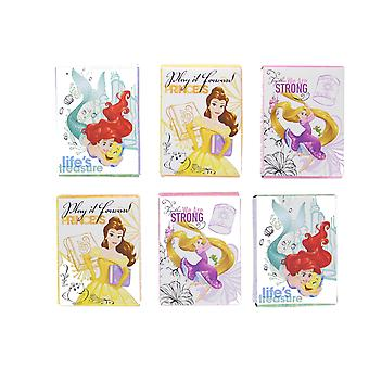Disney Princess 6 x 24 Stickers Featuring Belle, Ariel & Rapunzel Age 3+