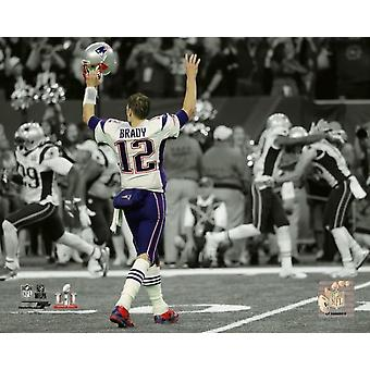 Tom Brady nel Super Bowl LI Spotlight Photo Print