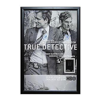 True Detective - Signed Poster in Wood Frame with COA