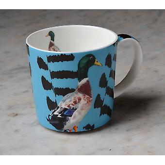 Leslie Gerry Bone China Mug, Mallard Duck