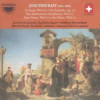 J. Raff - Joachim Raff: Te Deum, De Profundis (130 Salme), Pater Noster, Ave Maria, Vier Marianischen Antiphonen [CD] USA importerer