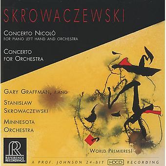 S. Skrowaczewski - Skrowaczewski: Concerto Nicol; Koncert for orkester [CD] USA importerer