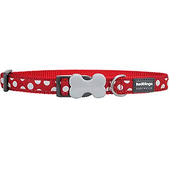 Red Dingo Spots White Collar Style (Dogs , Collars, Leads and Harnesses , Collars)
