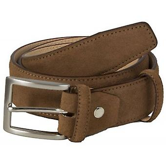 40 Colori Trento Suede Leather Belt - Brown