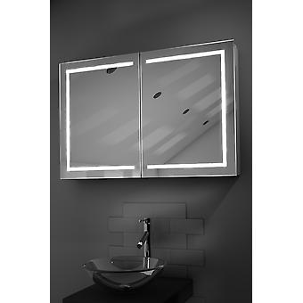 Lea LED Bathroom Cabinet with Demister Pad, Sensor & Shaver k374