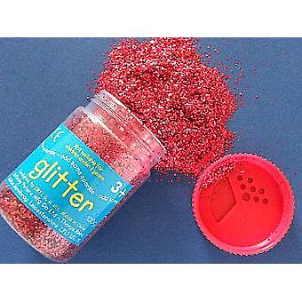 100g Red Kids Craft Glitter in Shaker Dispenser | Craft Glitter