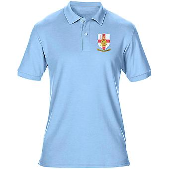 RMR London Crest Embroidered Logo - Official Royal Marines - Mens Polo Shirt