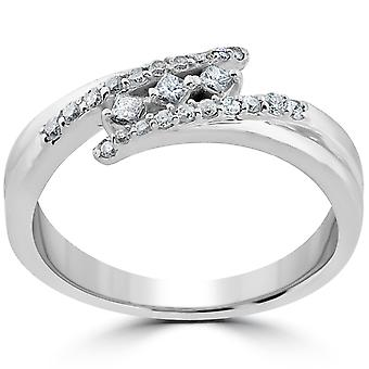1/5 ct Princess Cut diamanter 3 stein engasjement jubileum Ring 10k hvitt gull
