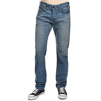 True Religion Rocco RHL Phantom Jeans Light Blue Straight Leg Regular Fit