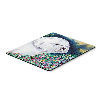 Carolines Treasures  7225MP Bichon Frise in the flowers Mouse Pad / Hot Pad / Tr