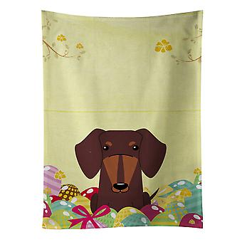 Carolines Treasures  BB6131KTWL Easter Eggs Dachshund Chocolate Kitchen Towel