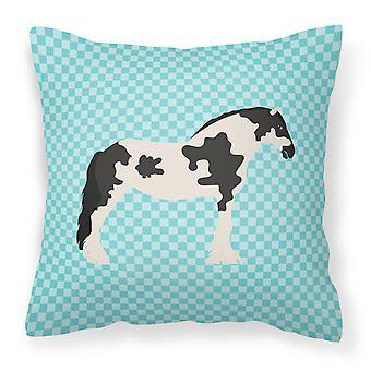 Cyldesdale caballo azul Compruebe almohadilla decorativa de tela