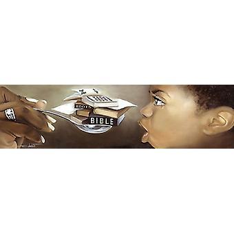 Tough to Swallow (Boy) Poster Print by Edwin Lester (34 x 11)