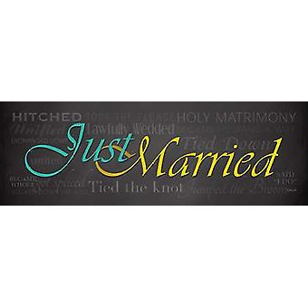 Just Married Poster Print by Lauren Rader (18 x 6)