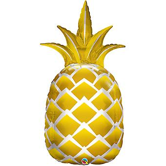 Qualatex 44 Inch Supershape Golden Pineapple Foil Balloon