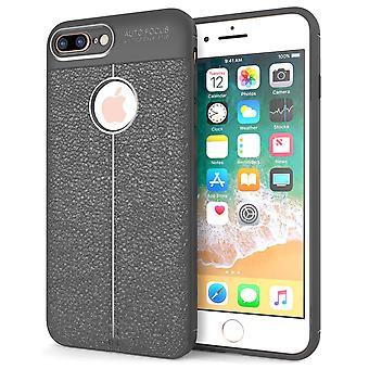 iPhone 8 Plus Auto fokus Gel Case - grå