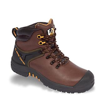 V12 VR601 Cougar Brown Waxy Hiker Boot EN20345:2011-S3 Size 10