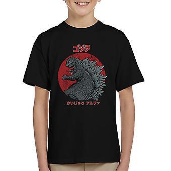 Kaiju Alpha Godzilla Kids t-skjorte