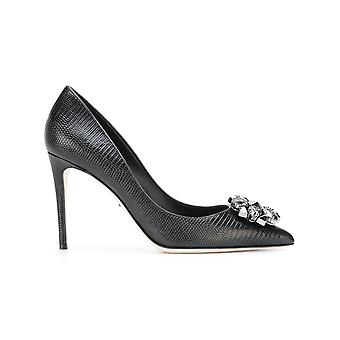 Dolce E Gabbana women's CD0289AB84580999 black leather pumps