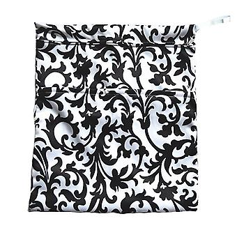 Baby Wet /Dry Bag Black Flower