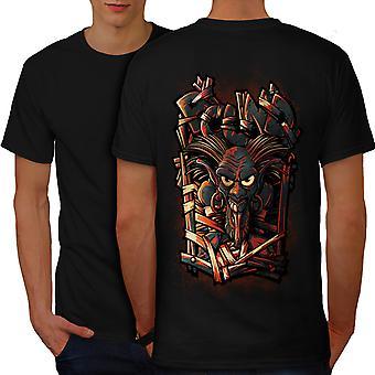 Animated Devil Horror Men BlackT-shirt Back | Wellcoda