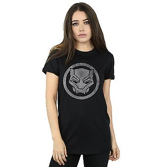 Marvel vrouwen Black Panther verdrietig pictogram Boyfriend Fit T-Shirt